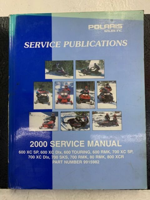 2000 Polaris Snowmobile Service Manual 600  700  800 Xc Sks