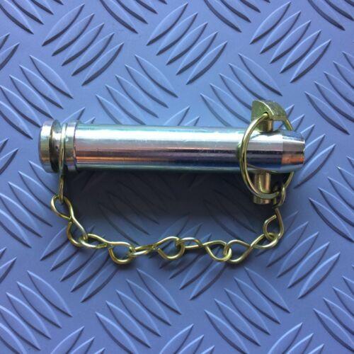 """90mm de longitud utilizable con Pasador con anillo abatible 3.1//2/"""" Pin de enlace Superior de Tractor Cat 2 25.4mm"""