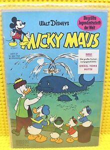 Walt-Disney-Micky-Maus-Nr-21-von-1965-mit-Gutschein-und-Sammelbild