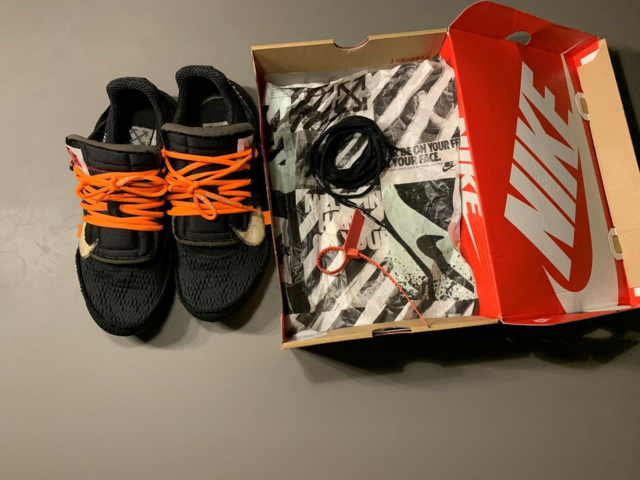 Sneakers, Nike x off White, str. 45,  Sort, orange og hvid,…