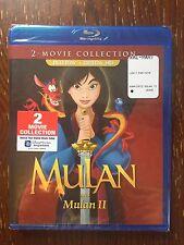 DISNEY MULAN& MULAN 2(BLU-RAY+DIGITAL HD)2-MOVIE COLLECTION BRAND NEW