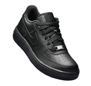 huge selection of caf29 2bef8 Image is loading Nike-Air-Force-1-Low-Black-GS-314192-