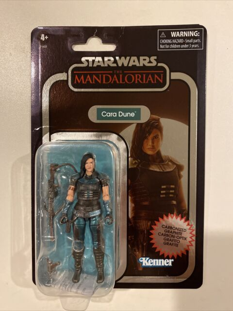 """Star Wars The Vintage Collection Cara Dune Carbonized 3.75"""" New On Card See Pics"""