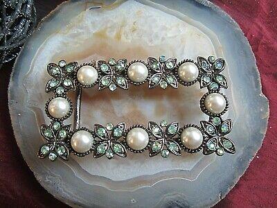 Kompetent Dekorative Gürtelschnalle Mit Perlen Und Steinchen 80er