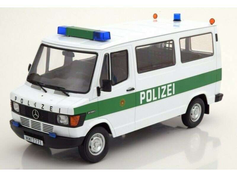KK-SCALE 1 18 MERCEDES 208D BUS 1988 POLIZEI AMBURGO MODELLINO
