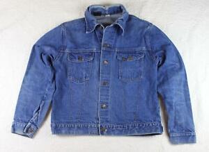 Vintage 80s Sears Roebuck Jean Jacket Dark Wash 44 Tall Made in USA Men/'s Medium Denim Jacket