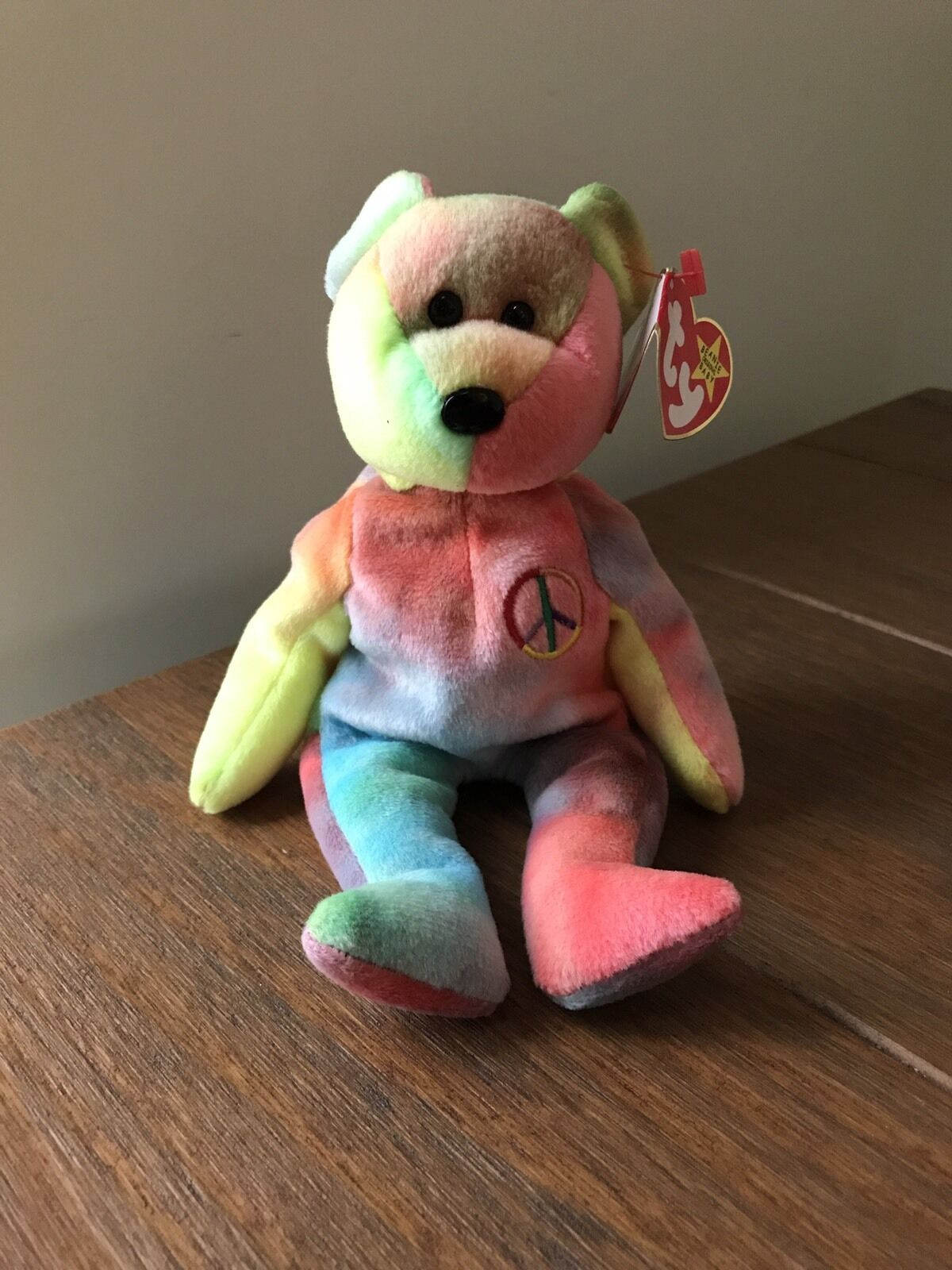 Original Ty Beanie Baby Rare Peace bear