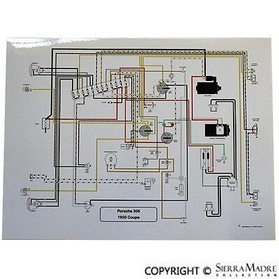 porsche 356 pre a wiring diagram full color wiring diagram  porsche 356 pre a with rotary switches  full color wiring diagram  porsche 356