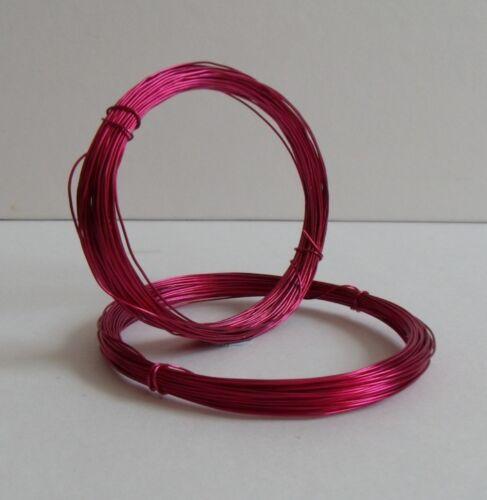 22 Gauge Rose Foncé Craft//Bijoux//Hobby fil 0.6 mm 10 mètres