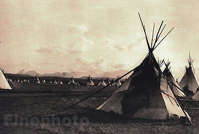 c.1900/72 Vintage NATIVE AMERICAN INDIAN Piegan Colorado Photo Art EDWARD CURTIS