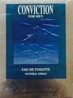 Conviction For Men By Omar Sharif - 3.3 Oz/100 Ml Edt Spray In Box - Rare