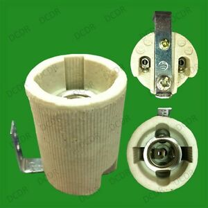 10x-E14-ses-Ceramica-Porcelana-Socket-Bombilla-Lampara-titular-con-soporte-de-fijacion