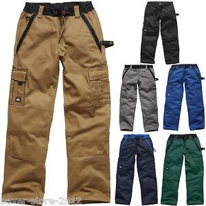 Dickies Hombre Pantalones De Trabajo Pantalon Cargo Cintura Talla Especial 24 29 Ebay