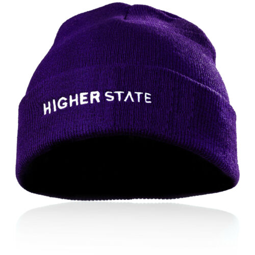 Higher State Homme Temps Froid Bonnet Violet Sport Running Outdoors Chaud