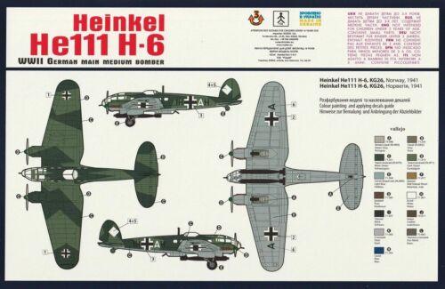 1//144 WW2 Bomber Heinkel He-111H-6 Germany RODEN #341