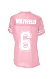 timeless design 03ed7 e8a2f Details about Customizebale Womens Pink/White Jersey, Baker Mayfield XS-4XL  New