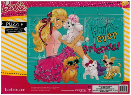 """fur-ever friends Puzzle Barbie 11-1//2/"""" X 8-1//2/""""  New 16 Lg Pcs Age 4+"""