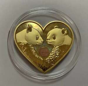China 2019 Valentine/'s Day Heart Love Panda 25g Silver Medal