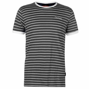 Pierre-Cardin-Mens-Stripe-Ringer-T-Shirt-Crew-Neck-Tee-Top-Short-Sleeve-Cotton