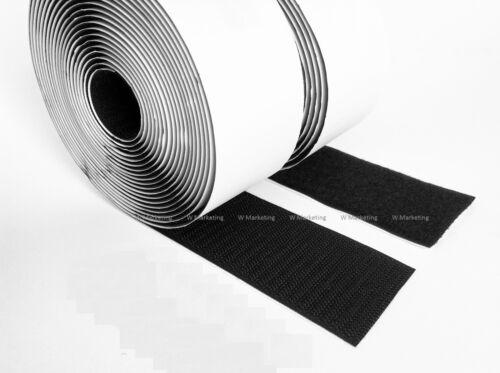 """5 pies 2/"""" Negro Auto Adhesivo Hook /& Loop Sujetador de cinta BAV50"""