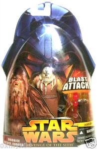 "New Hasbro Star Wars ROTS 3.75/"" Wookie Heavy Gunner Action Figure Sealed"