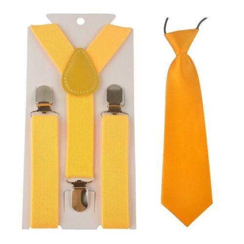 Skinny satin cravate fantaisie robe de mariage Set UK Kid enfants Bretelles Jarretelles