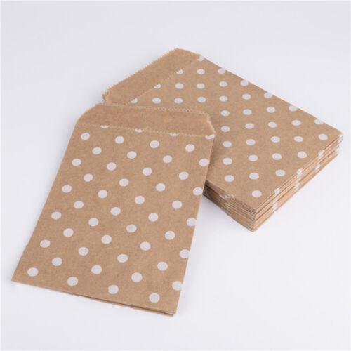 25Pcs Kraft Paper Popcorn Snack Gifts Storage Bag Food Safe Favor Packing Pouch