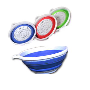 Silicone Collapsible Colander Food Fruit Vegetable Draining Strainer Spacer D