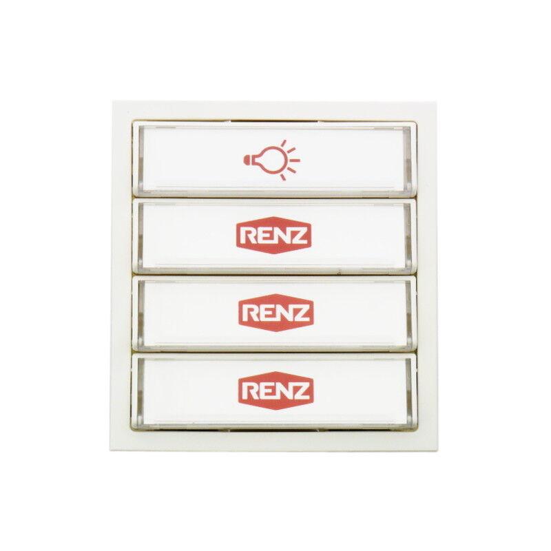 RENZ Tastenmodul mit 1 Lichttaster + 3 Klingeltaster