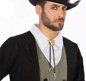 CRAVATE-Lacet-Taureau-COWBOY-Deguisement-Homme-Femme-cow-boy-country-NEUF