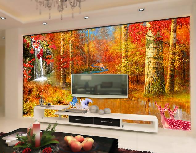 3D Albero Murali Giallo 4038 carta da Parati Murali Albero Muro Stampa Murales Adesivo Per Pareti AJ Muro UK Limone b6c8e4