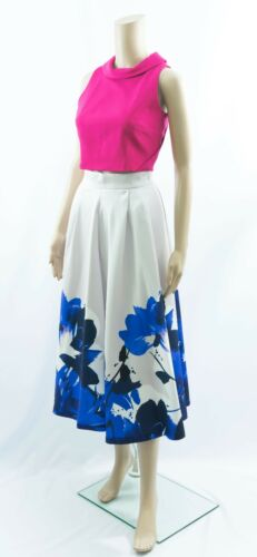 ex Coast Bold Floral Print Pocket Magda Party Occasion Cocktail Wedding Skirt