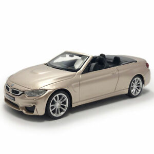 BMW-M4-Convertible-1-43-Model-Car-Diecast-Gift-Toy-Vehicle-Kids-Collection-Gold