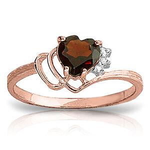 Genuine-Garnet-Heart-Gemstone-amp-Diamonds-Ring-in-14K-Yellow-White-or-Rose-Gold
