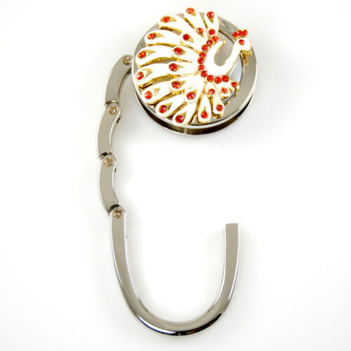 "Stylish Foldable Handbag Holder /""Peacock/"" Purse Hook"