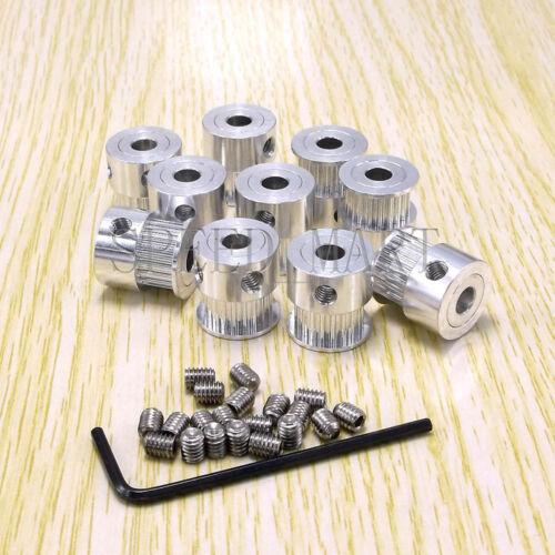 GT2 17T Aluminum Timing Pulley 17 Teeth 5mm Bore 8mm Width for Mendel 3D Printer
