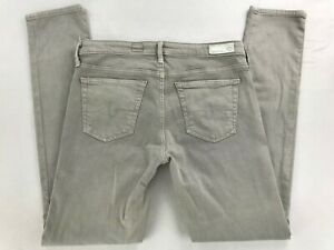AG-ADRIANO-GOLDSCHMIED-THE-STEVIE-ANKLE-SLIM-STRAIGHT-LEG-STRETCH-JEANS-27R-GRAY