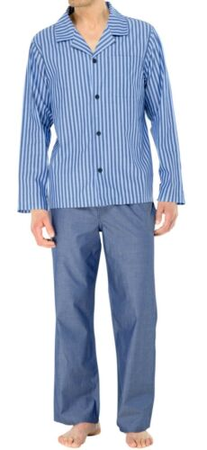 Schiesser Pyjama lang Pyjama Jean-Bleu