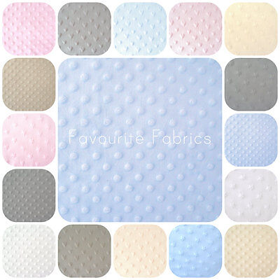 DIMPLE MINKEE - DOT - STAR - HEART - PREMIUM QUALITY CUDDLE FLEECE 147cm WIDE