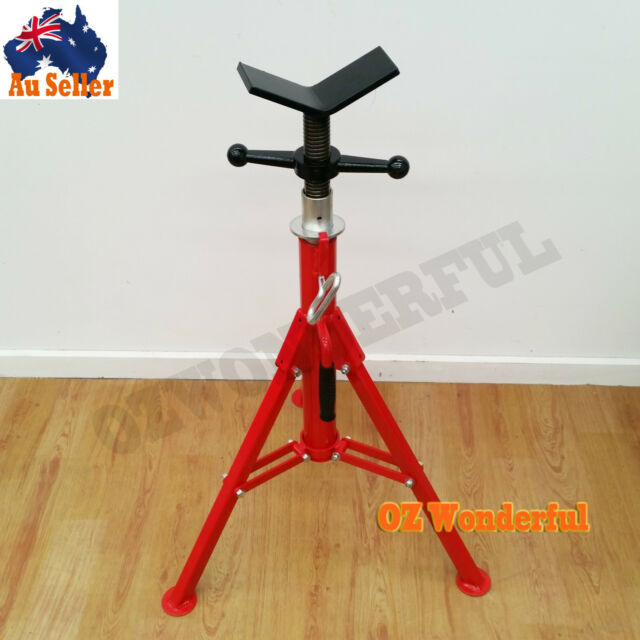 Pipe Jack Stands >> Foldable Jack Stands Heavy Duty Screw V Style Pipe Adjustable Height