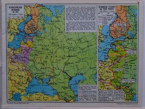 1961-SOVIET-MAP-EUROPEAN-RUSSIA-IN-1921-POLAND-FINLAND-RUMANIA-LATVIA-LITHUANIA