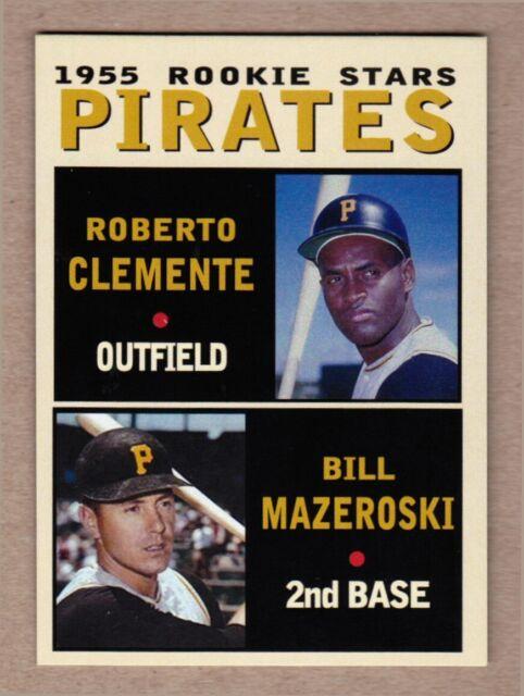 Roberto Clemente & Bill Mazeroski '55 Pirates Rookie Stars Pastime Series #19