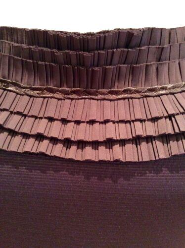 Reiss Size Ruffle Brown 10 Dress Shift RSrRpc1H