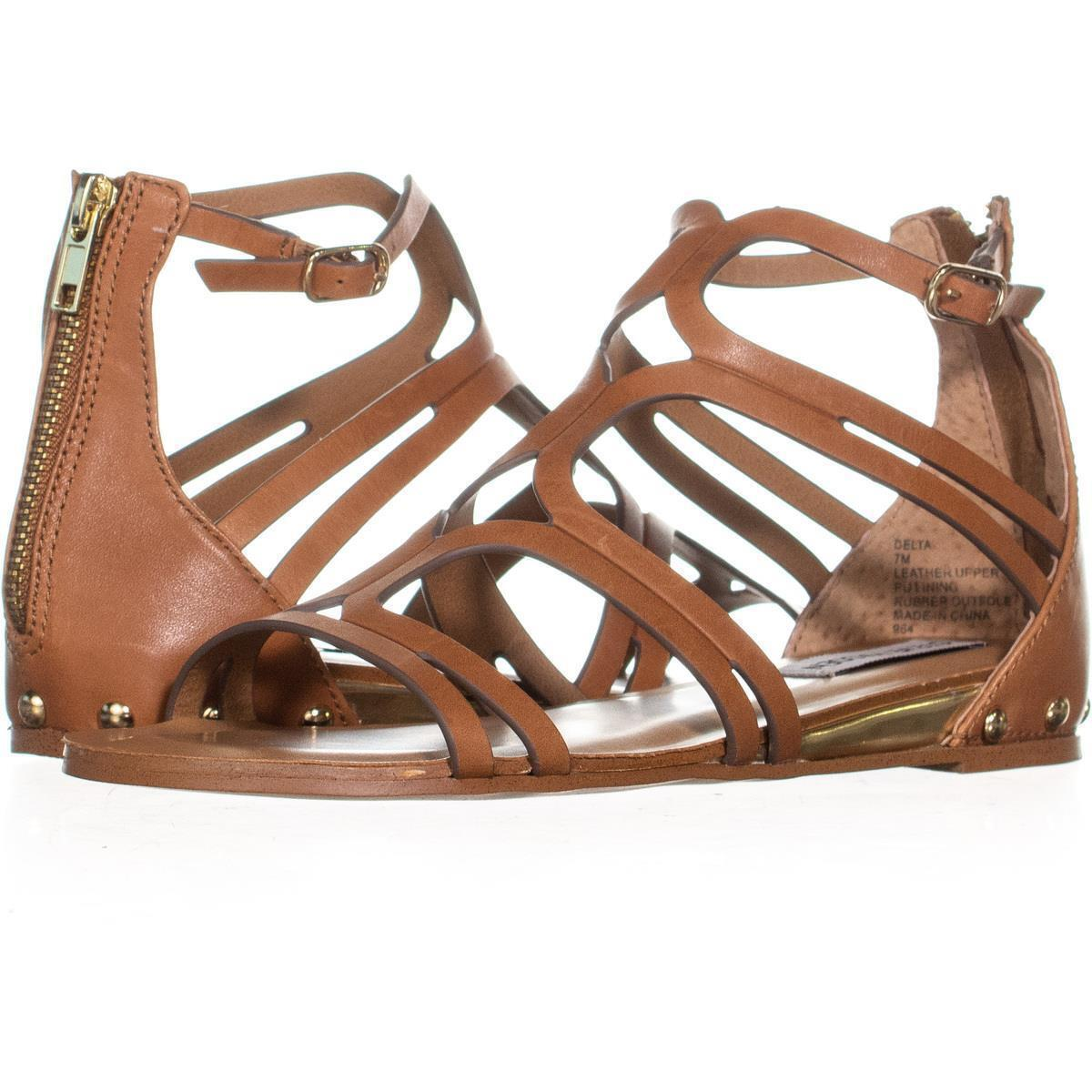 Steve Madden Delta damen Flat Sandals Gladiator schuhe Tan Leather Boxed New  | Online Outlet Shop