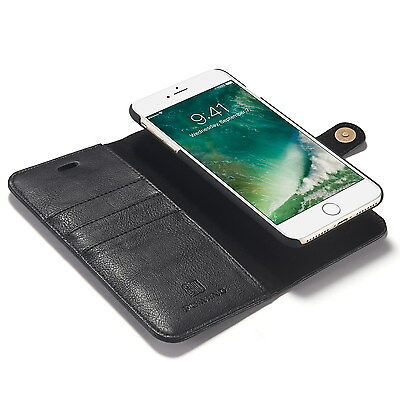 Leather Holst Wallet Card Purse Case Magnetic Detachable Cover For iPhone 7 Plus
