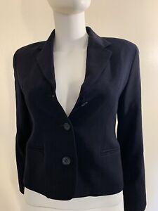 J.CREW Petite Navy Blue 100% Wool Blend Blazer Size 2P Women