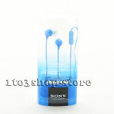 Sony MDREX15AP In-Ear Earbuds Headphones Headset w/Mic Remote Blue Brand NEW