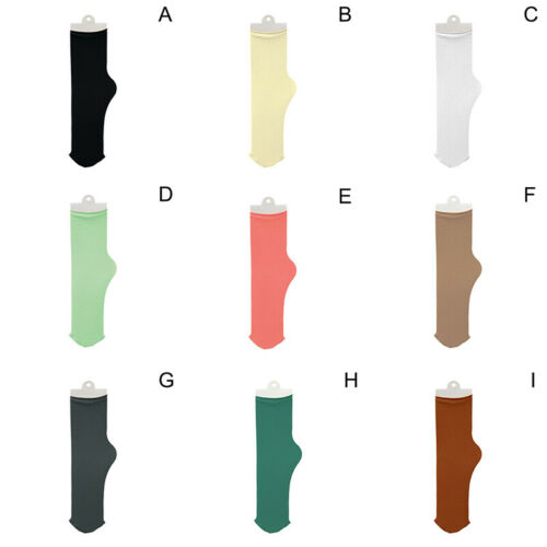 New 1 Pair Women Solid Socks Middle Tube Breathable Cotton Casual 18Colors