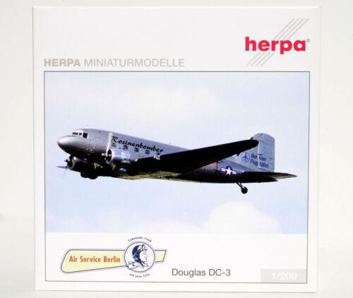 HERPA 550529 Douglas DC-3 Air Service Berlin Rosinenbomber D-CXXX -NEU---OVP