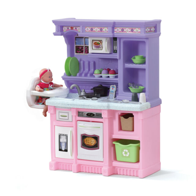 Kitchen Playset For Girls Pretend Play Refrigerator Toy Cooking Set Kids  Toddler